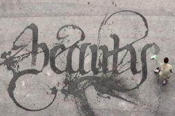 Sweeping Beauty: Temporary Graffiti Made with Water and a Broom