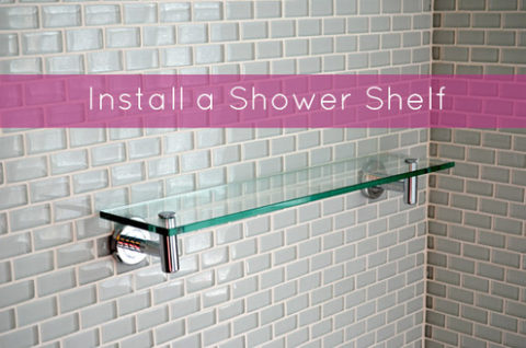 Installing a shower shelf