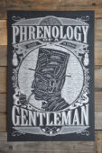 """""""Phrenology of a Gentleman"""" and Other Vintage-Inspired Manly Posters and T-Shirts by Maiden Voyage"""