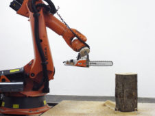 A Woodworking Robot that Carves Furniture with a Chainsaw