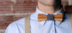 Stylish Handmade Wooden Bow Ties from Two Guys