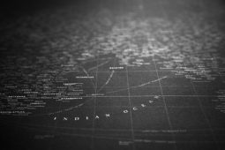 Incredible White-On-Black Typographic World Map