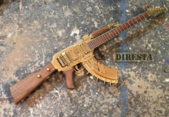 Wyclef Jean and Jimmy DiResta Make a Functional Guitar from an AK-47 Assault Rifle