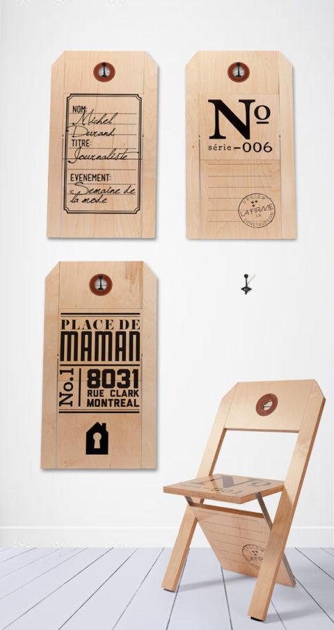 The Label Chair by Félix Guyon & La Firme [http://www.behance.net/gallery/CHAISE-ETIQUETTE-LABEL-CHAIR/7315149]