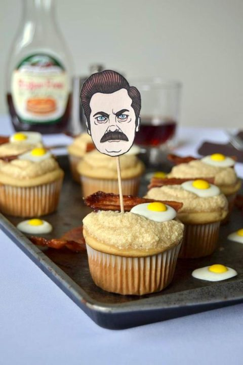 Ron Swanson Cupcakes DIY