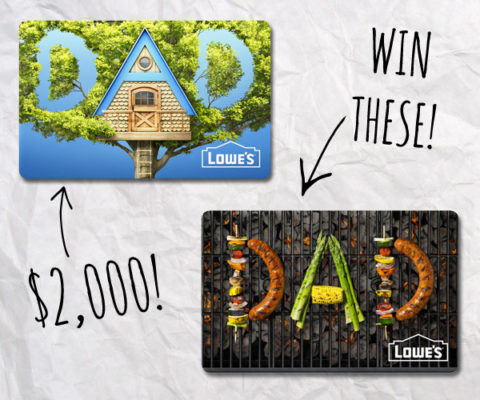 Win a $2,000 Lowes gift card