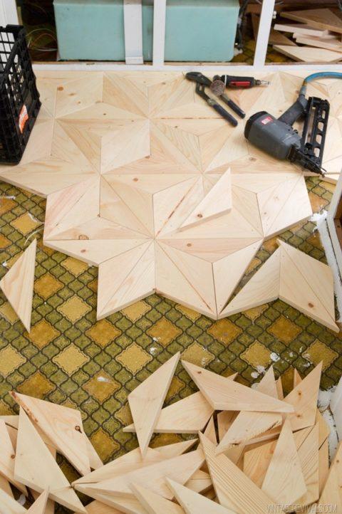 Make your own Geometric wood flooring