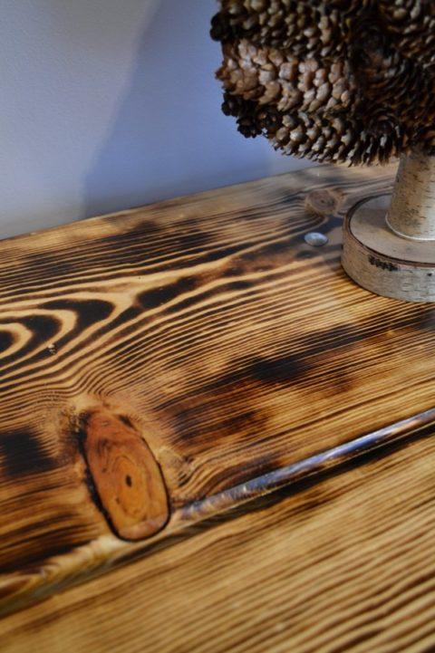 Burned Wood Table