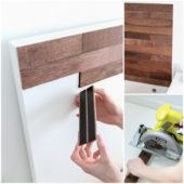 Upgrade Your Headboard with Peel-and-Stick Wood Boards
