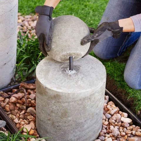 Lowes Concrete Sphere Fountain
