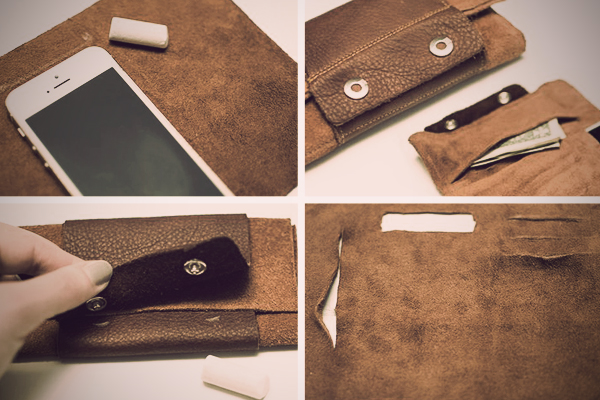 leather roll wallet