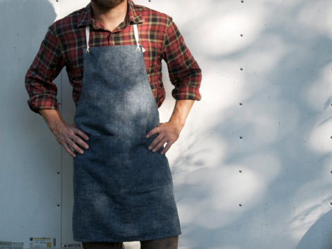 Apron No. 2 in Chambray