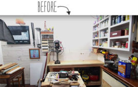How to Build a French Cleat Organizing System for Your Workshop