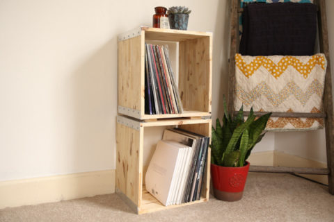 DIY Modern Modular vinyl crates