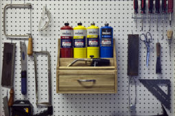 How To: Build A Pegboard Blowtorch Holder