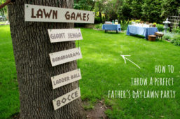 How to Throw a Great Father's Day Lawn Party (Everything You Need!)