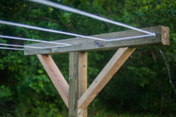 How To Make a Simple DIY Clothesline in Your Backyard
