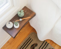Weekend Project: How to Make a Floating Wood Slab Bedside Table