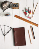 Make This: A Simple Leather Covered Notebook