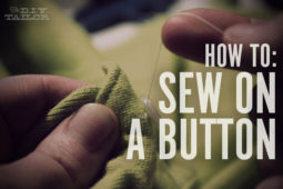 The DIY Tailor: How to Sew on a Button