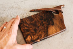 Make This: Leather + Walnut Cutting and Serving Board