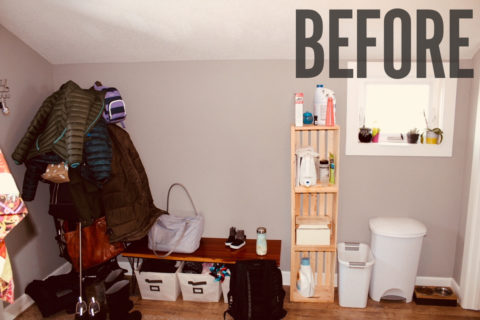 my mudroom, the before