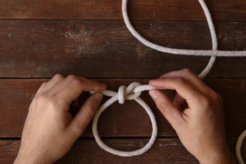 Bowline knot tutorial