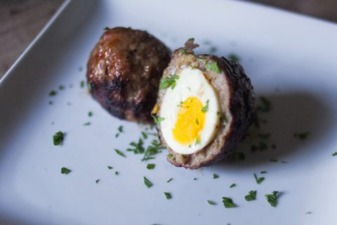 How to grill a scotch egg