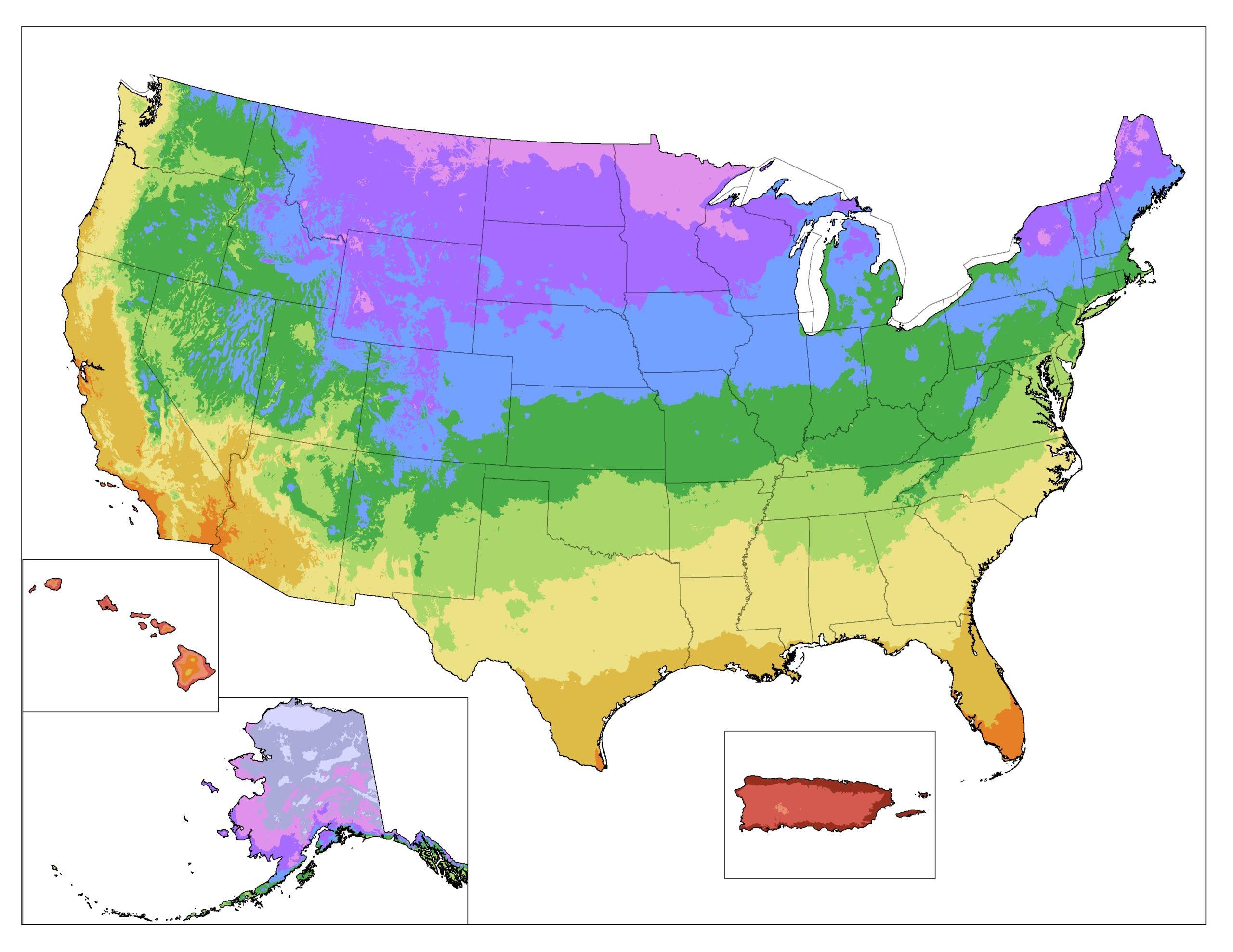 Zones hardiness greenhouse