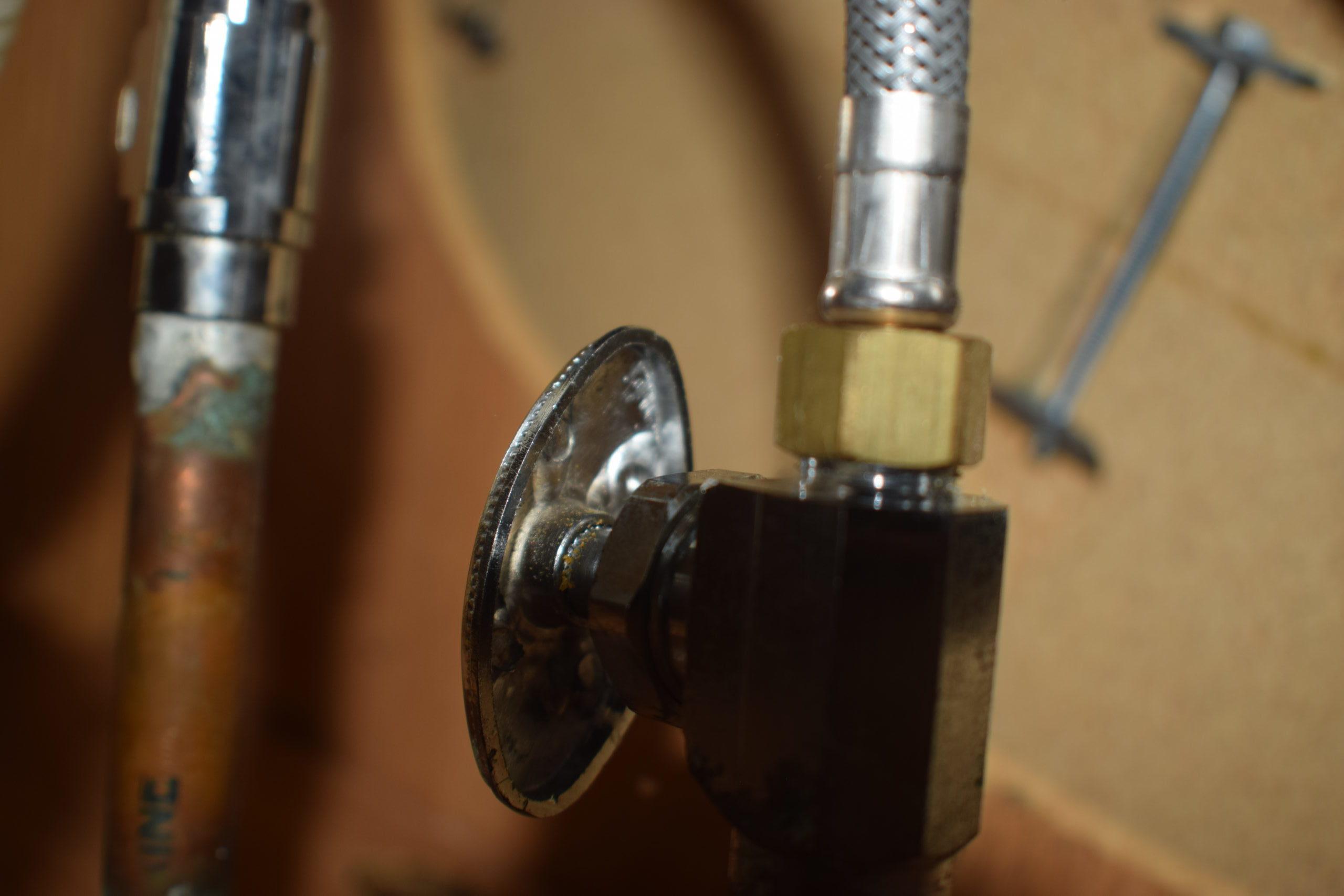 water shut off valve under kitchen sink