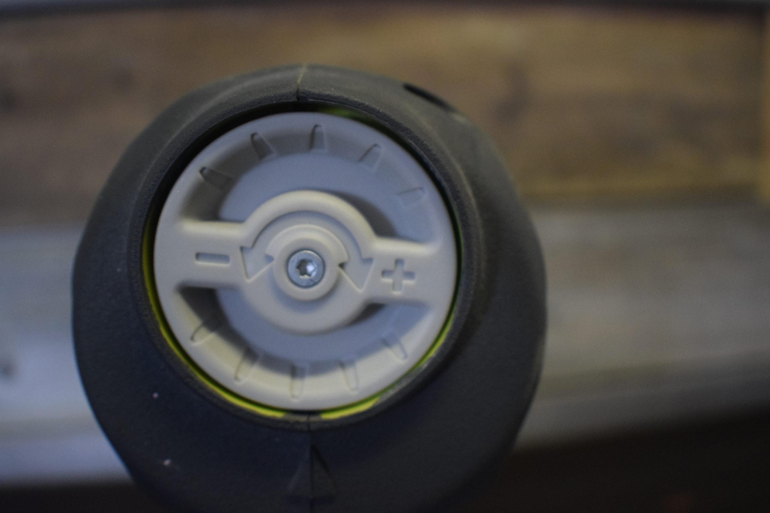 air pressure dial on ryobi airstrike nail gun