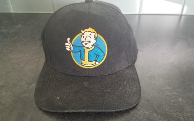 black Fallout baseball cap