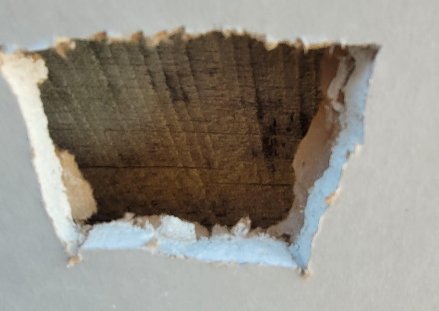 sheetrock repair hole gypsum wallboard