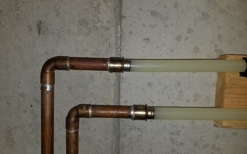 pipes away from the wall