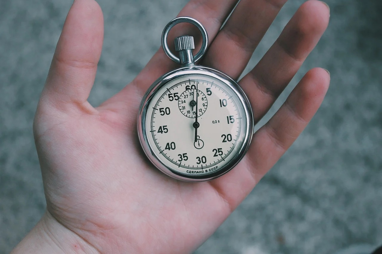 Practice patience by watching the clock and waiting for things to work themselves out.