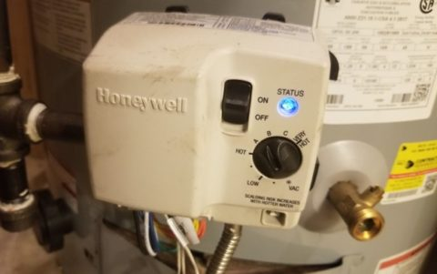 water heater power switch