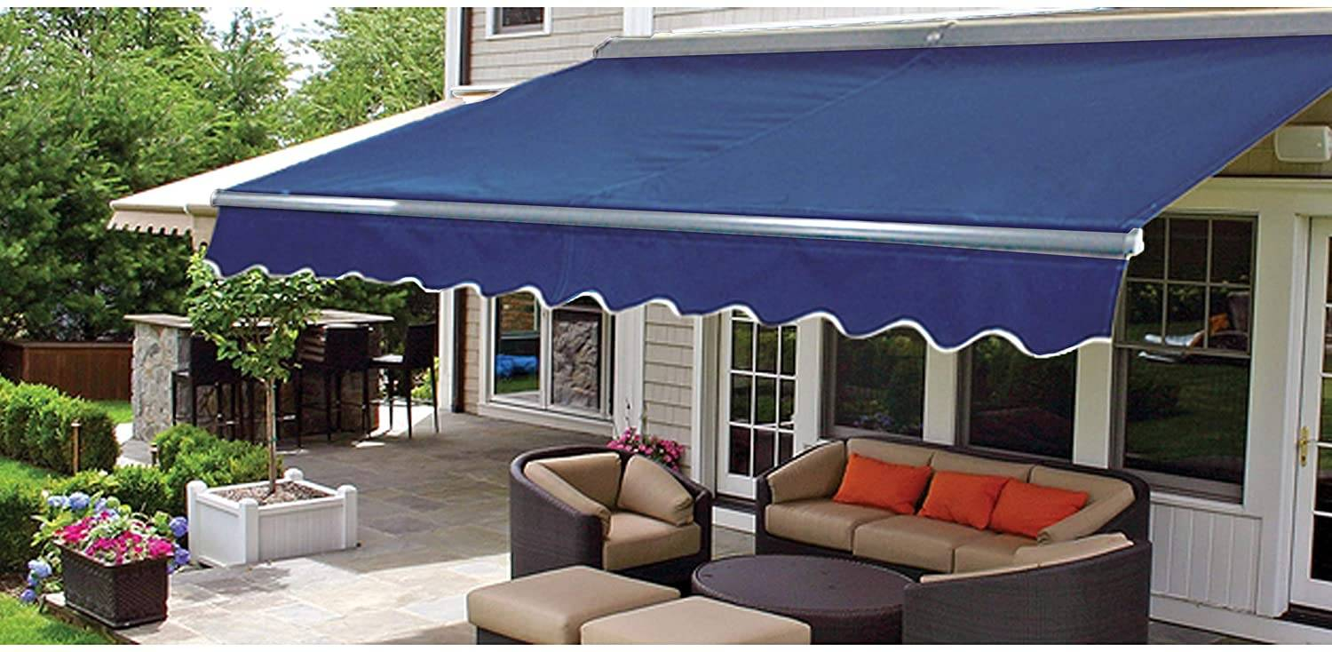 Blue canopy in outer deck