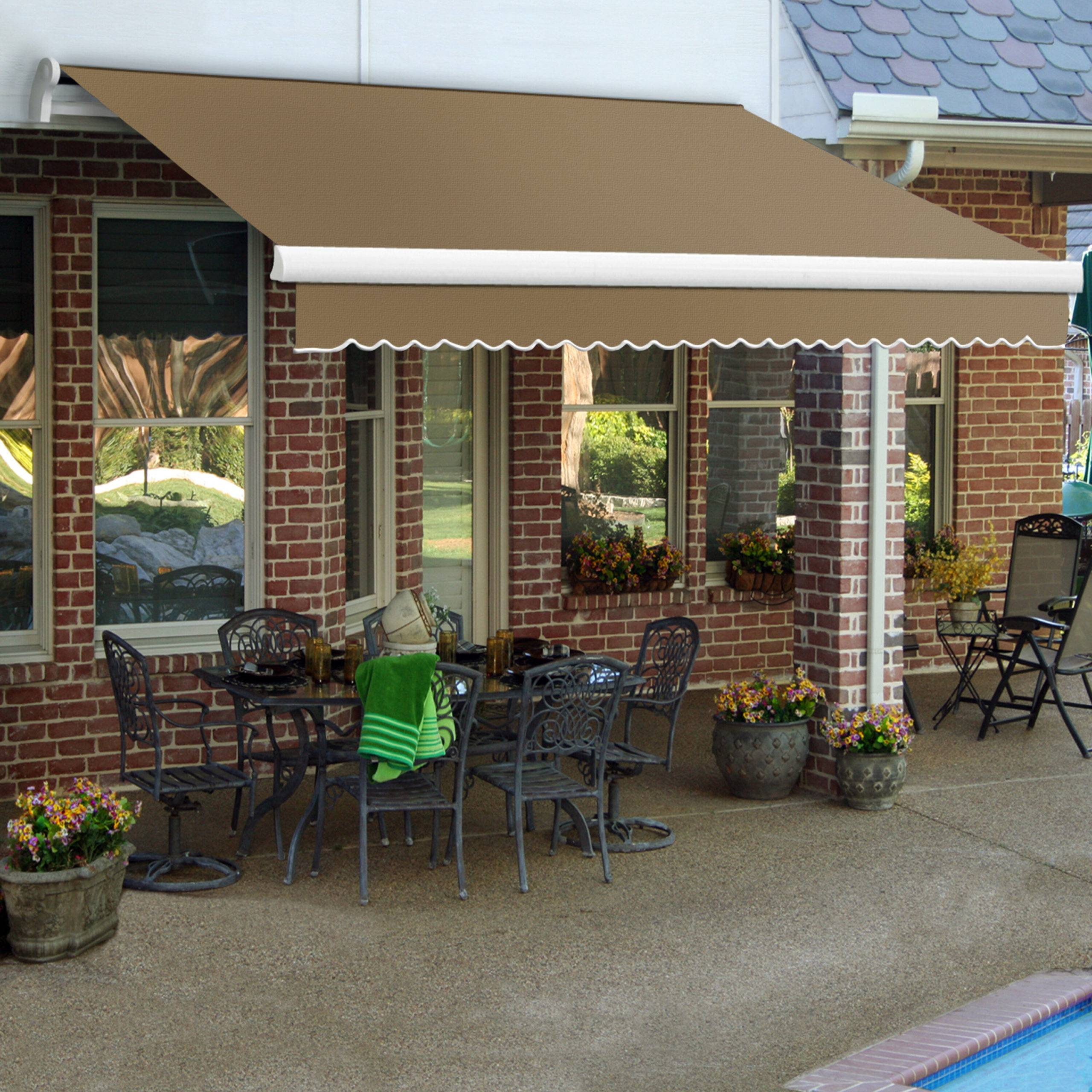 Outer deck with potted plants