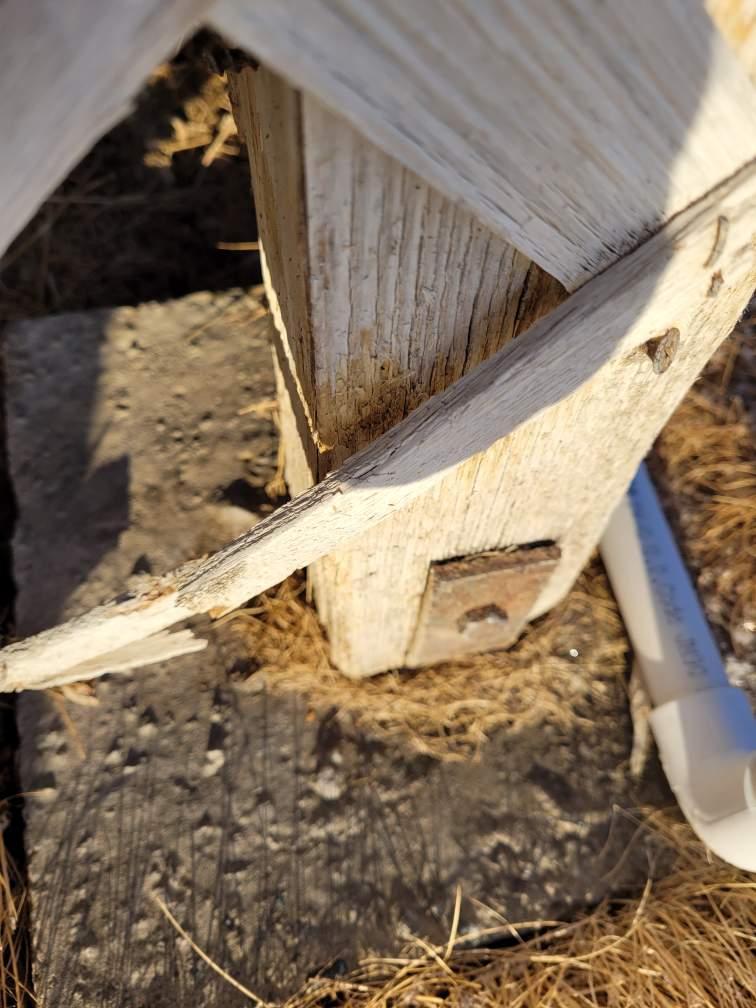anchor post concrete hanger