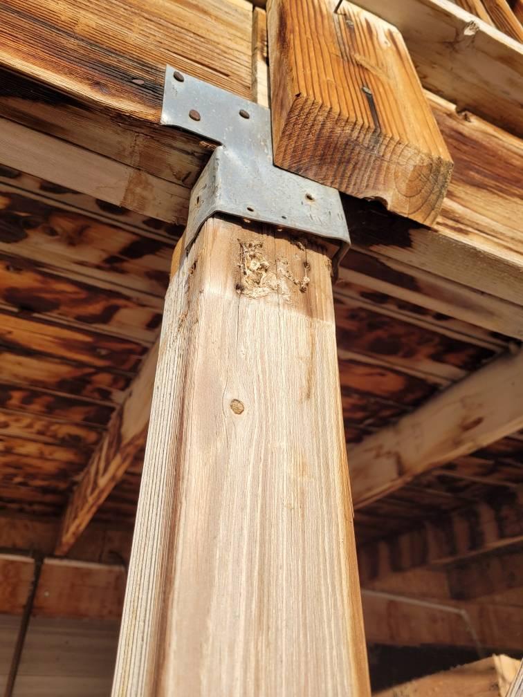 joist hanger post leveling