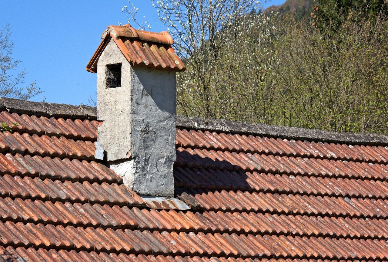 Poor flashing around a chimney