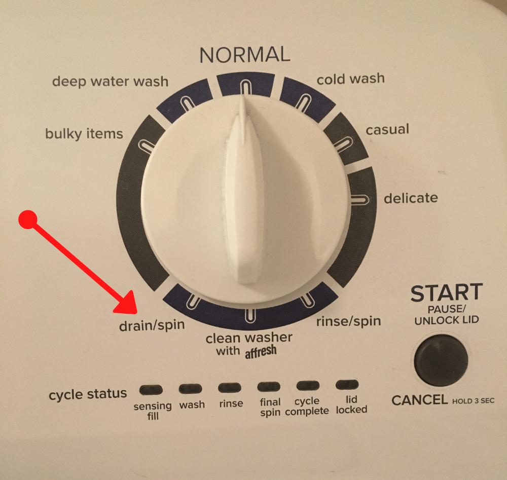 cycle dial on washing machine