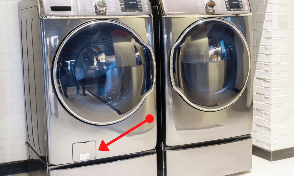 silver washing machine and dryer set