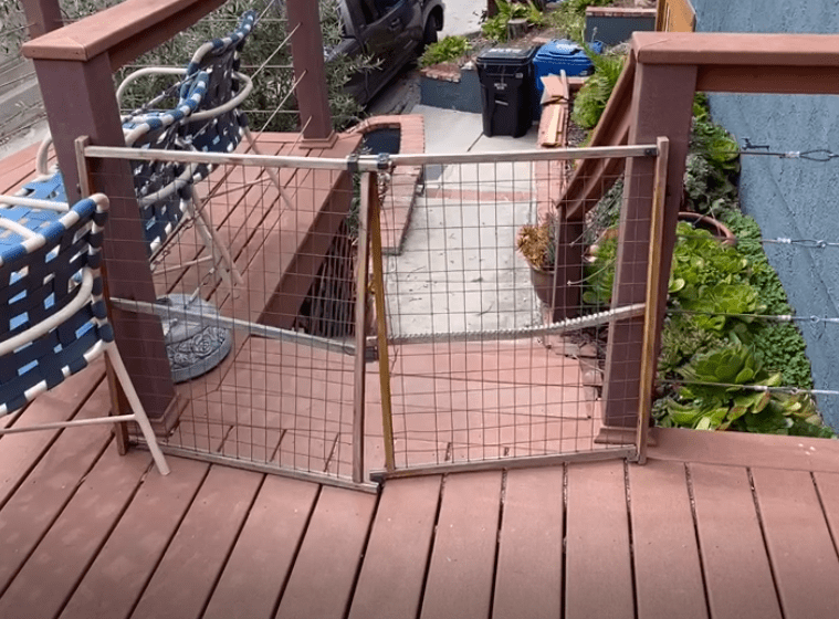 Deck before gate is installed