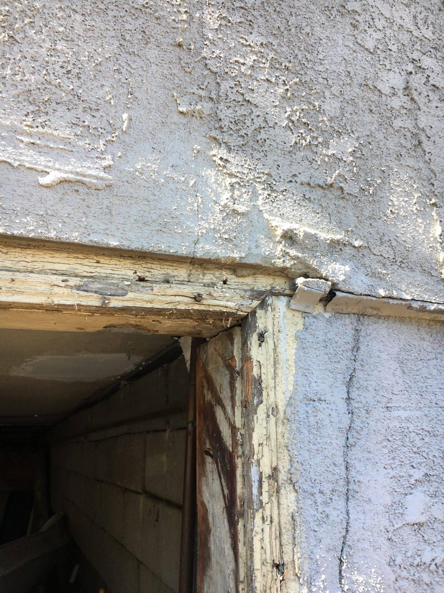 Worn-Out Garage Door Frame