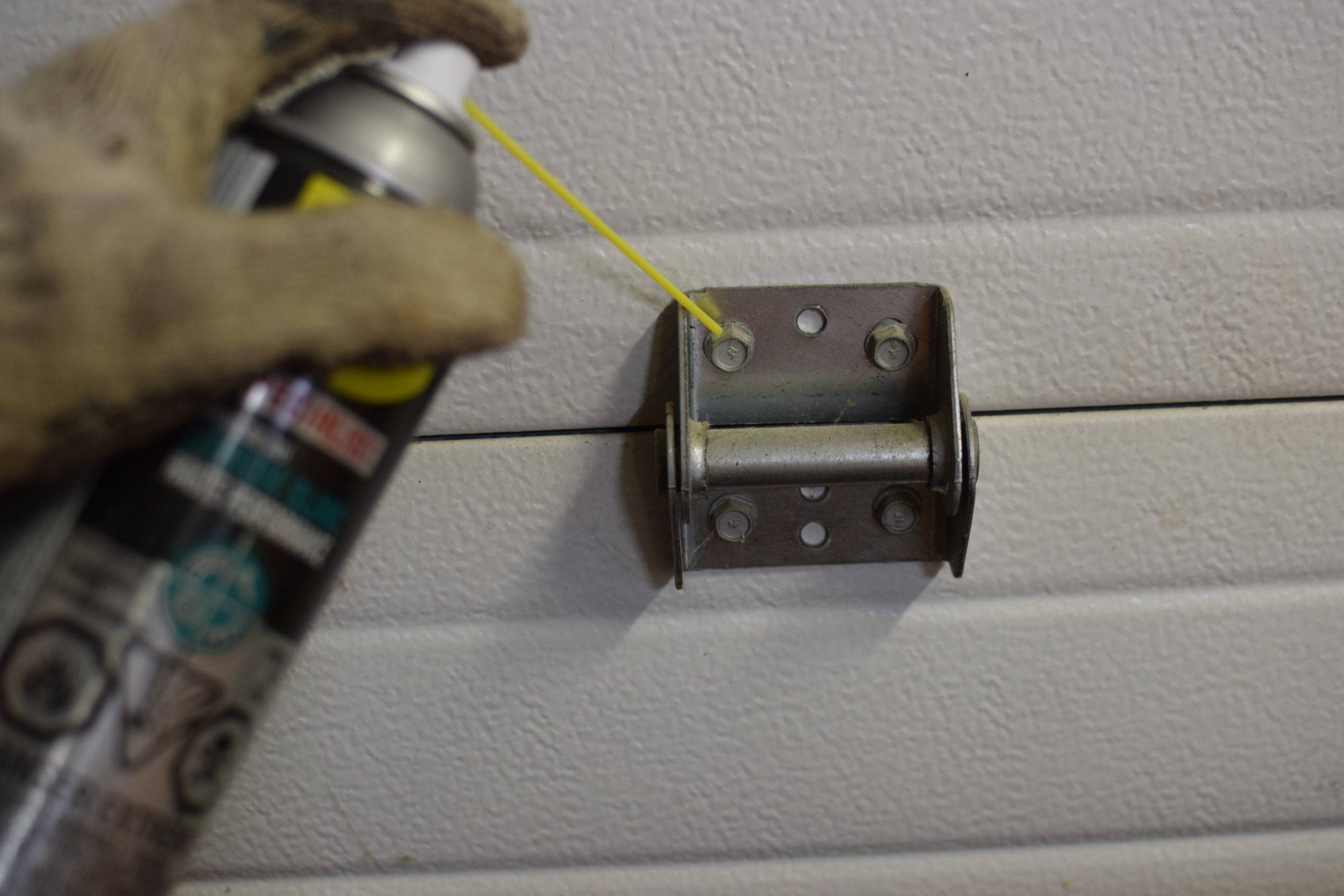 Lubricating a part of garage door