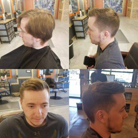 Taper haircut (before and after)