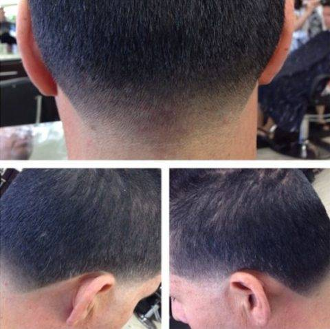 low skin taper haircut