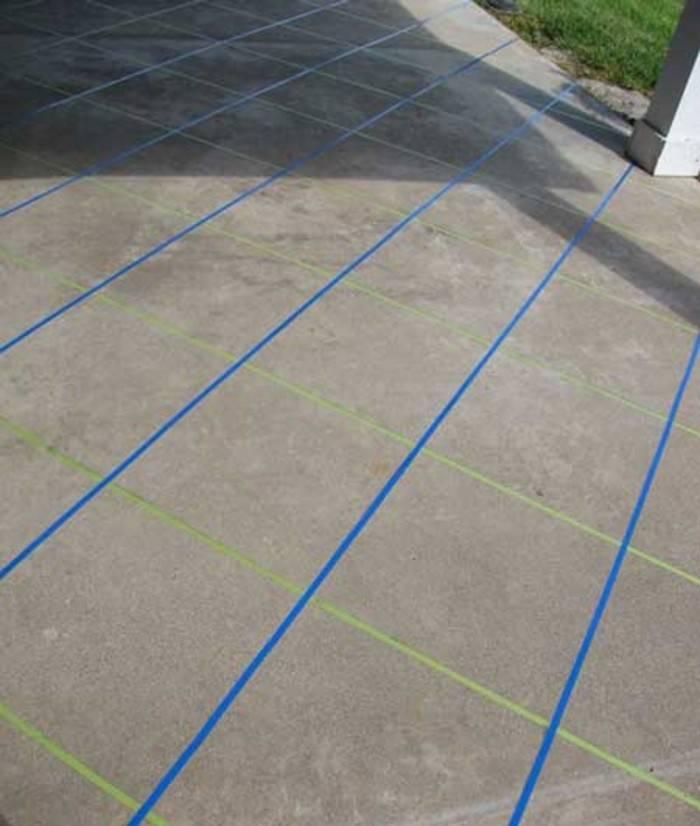 taped concrete slab edges
