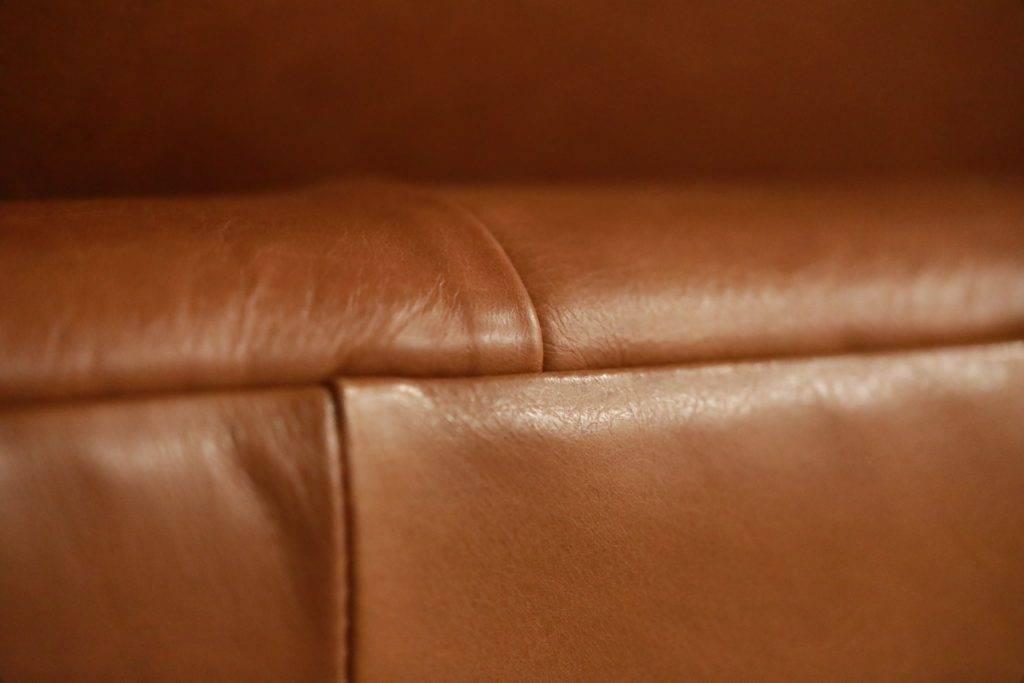 leather sofa closeup